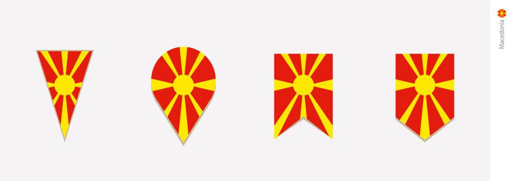 Macedonia flag in vertical design, vector illustration