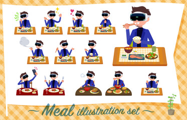 flat type VR goggle men_Meal
