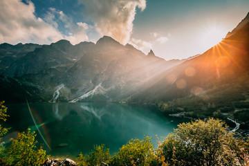 Fototapeta Tatra National Park, Poland. Famous Mountains Lake Morskie Oko O obraz
