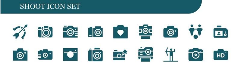 shoot icon set