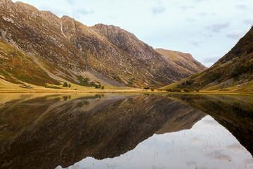 Glen Coe in Highlands Scotland Reflection