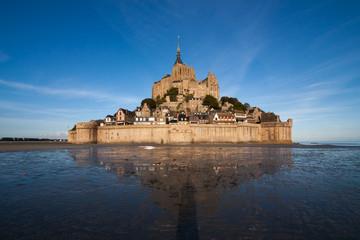 Mont Saint Michel low tide reflection