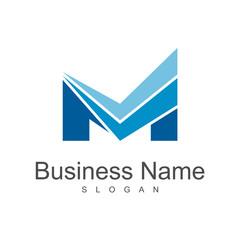 building construction with letter m, business logo template, letter m logo
