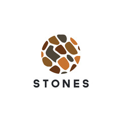 Isolated abstract of stone gems logo template vector illustration