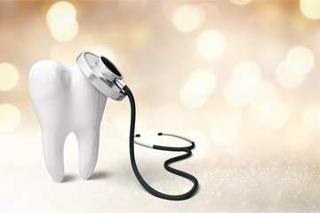 Dentist mirror tooth white background isolated shape