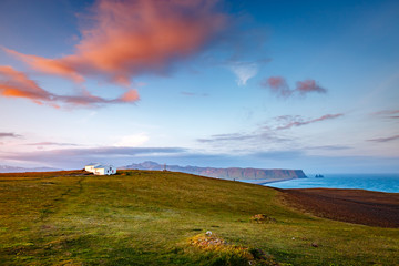 Fantastic views of the magical place. Location cape Dyrholaey, Iceland, Europe.