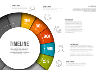 Circle Timeline Infographic Layout