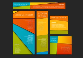 Colorful Web Banner Layout Set