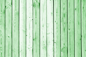 Wooden wall texture in green tone.