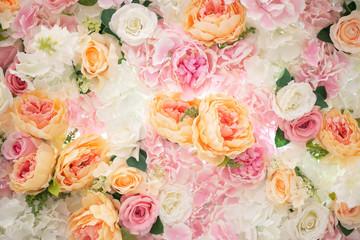 Pink flower wedding decorations