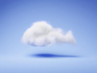 Isoated Cloud - 3D Rendering