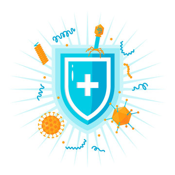 Immune system vector concept, simple colored icon
