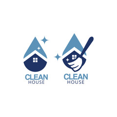 Clean house logo icon graphic design template
