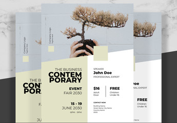 Minimal Business Flyer with Yellow Accent