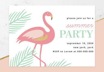 Summer Party Invitation Layout