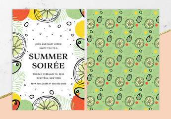 Summer Soiree Party Invitation Layout
