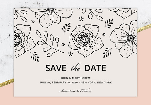 Save the Date Invitation Layout