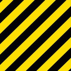 Yellow and black diagonal stripes background texture.