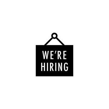hiring icon vector. hiring vector graphic illustration
