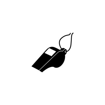 whistle icon vector. whistle vector graphic illustration