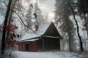 Winter in Czech Republic, Sobesice, near Brno