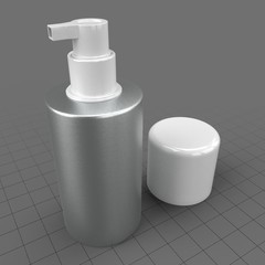 Open aluminum bottle