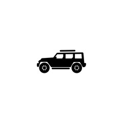 jeep icon vector. jeep vector graphic illustration