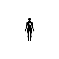 human body icon vector. human body vector graphic illustration