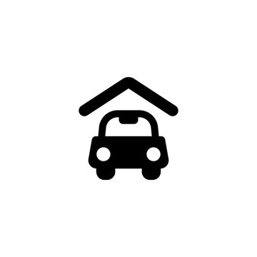 carport icon vector. carport vector graphic illustration