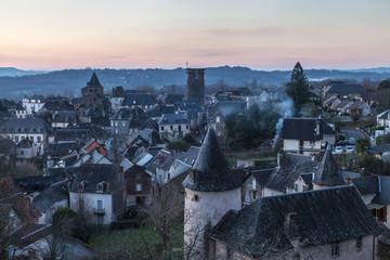 Allassac (Corrèze – France) – Vue générale au coucher du soleil