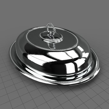 Silver tray with lid