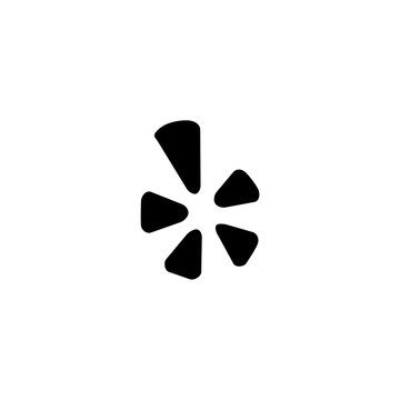 yelp icon vector. yelp vector graphic illustration