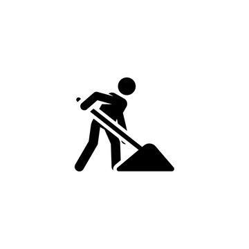 shovel icon vector. shovel vector graphic illustration