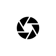 camera shutter icon vector. camera shutter vector graphic illustration