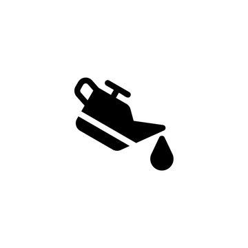 car oil icon vector. car oil vector graphic illustration
