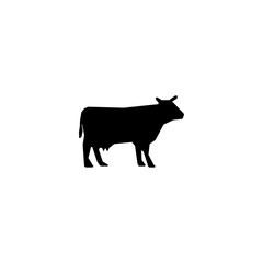 cow silhouette icon vector. cow silhouette vector graphic illustration