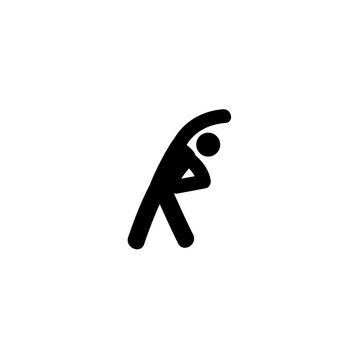 stretching exercises icon vector. stretching exercises vector graphic illustration