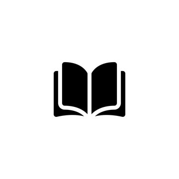 open book icon vector. open book vector graphic illustration