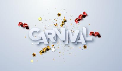 Carnival paper label