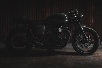 motorcycle on black background