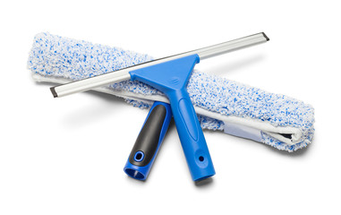 Blue Squeegee and Washing Wand