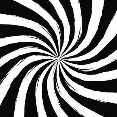 Black and White Swirling radial vortex background