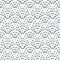 Japanese background Wave seamless pattern Vector illustration