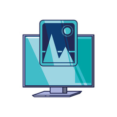 computer monitor with picture
