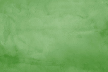 Green ink and watercolor textures on white paper background. Paint leaks and ombre effects. Hand painted abstract image.