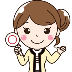 女性会社員OLの笑顔-OKオッケー