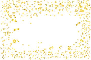 Gold confetti background