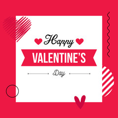 happy valentines day card. Love design. Banner design. Gift  card.  Vector Illustration.
