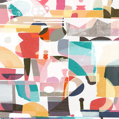 Abstract transparent paint classic pattern