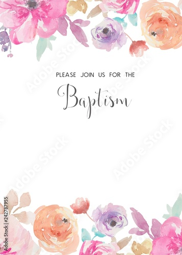photo regarding Free Printable Baptism Invitations known as Adorable Baptism Invites Template, Do-it-yourself Printable Baptism